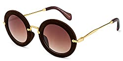 Rafa Round Sunglasses (Brown) (81530BRN)