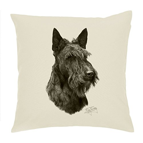 "Scottish Terrier cane Scottie Copricuscino/Cuscino 18 ""Mike Sibley Design"