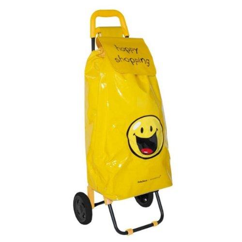 sacs de courses et cabas poussette de march jaune smiley happy shopping. Black Bedroom Furniture Sets. Home Design Ideas