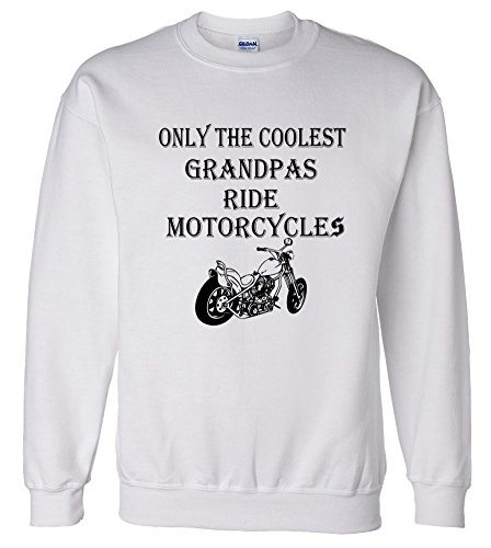 Only The Coolest Grandpas Ride Motorcycles Bike Sweatshirt Sweater