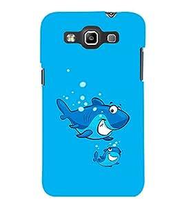 printtech Cartoon Shark Water Back Case Cover for Samsung Galaxy Quattro i8552::Samsung Galaxy Quattro Win i8552
