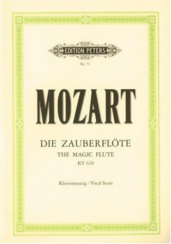 Die Zauberflöte KV 620: Oper in zwei Aufzügen / Klavierauszug - Mozart -Partitura
