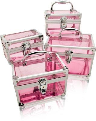 Pink Acrylic Makeup Cosmetic Case - 4 Piece Set Style No. TS-40 - Buy Pink Acrylic Makeup Cosmetic Case - 4 Piece Set Style No. TS-40 - Purchase Pink Acrylic Makeup Cosmetic Case - 4 Piece Set Style No. TS-40 (Tools & Accessories, Makeup Brushes & Tools)