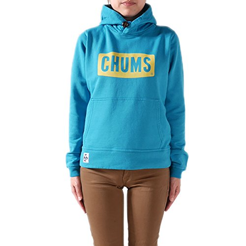 CHUMS チャムス プルオーバー スウェットパーカー CHUMS Logo Pull Over Parka CH10-0523 CH10-0556 スウェット スエット プルオーバー パーカー 長袖 ロゴ プリント レディース 正規取扱品 (WM, 6.Blue(7526))