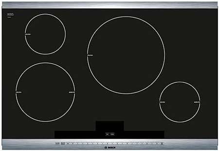 Bosch 800 Series NIT8065UC 30ö Black with Stainless Steel Trim, Induction Cooktop with Auto Chef