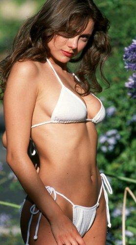 2659 White Slightly Sheer Gauze String Top: Xs \ Bottom: Xs Women Swimwear