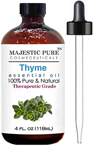 Thyme Essential Oil From Majestic Pure, Therapeutic Grade, Pure and Natural, 4 fl. oz.