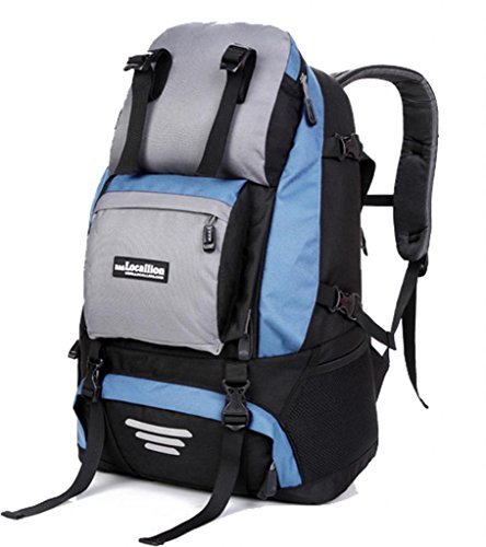 Zerd Outdoor Waterproof Nylon Mountaineering Camping Travel Backpack Trekking Bag 40L Light Blue front-263878