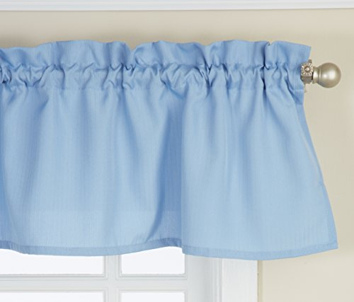 Lorraine Home Fashions 00200-V-00003 Ribcord Valance, 54-Inch x 12-Inch, Blue (Blue Valance compare prices)