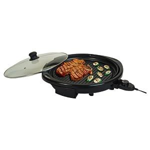 MaxiMatic EMG-980B Elite Gourmet Electric Indoor Grill, 14-Inch, Black by Elite Cuisine