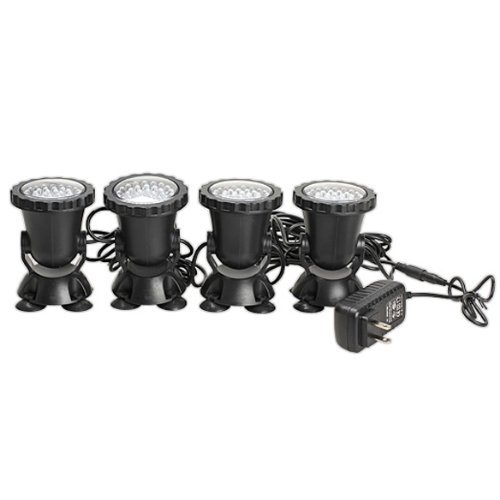 Cozyswan 4Pcs 36-Led Submersible Light For Water Gardens And Ponds