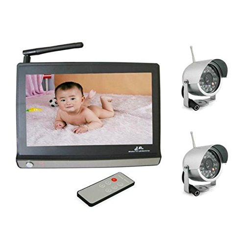 "Baby Monitor 7"" Lcd Security System Wireless Baby Monitor Camera With 2 Ir Camera Audio And Video Baby Care Monitors Bbm 05"
