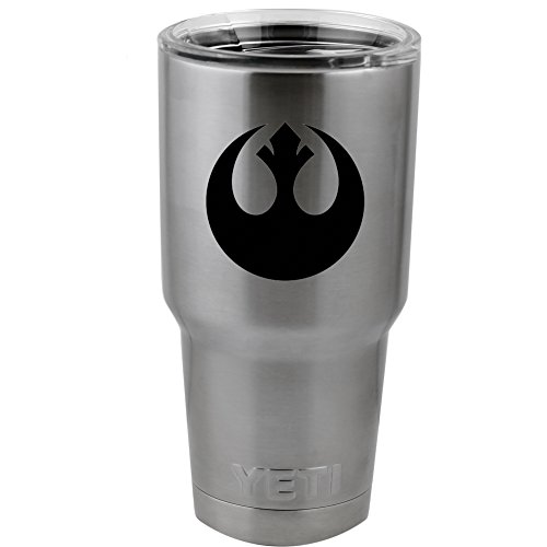 "Decal Serpent Rebel Alliance Vinyl Sticker Decal for Yeti Mug Cup Thermos Pint Glass (4"" Wide - DECAL ONLY, NO CUP)"