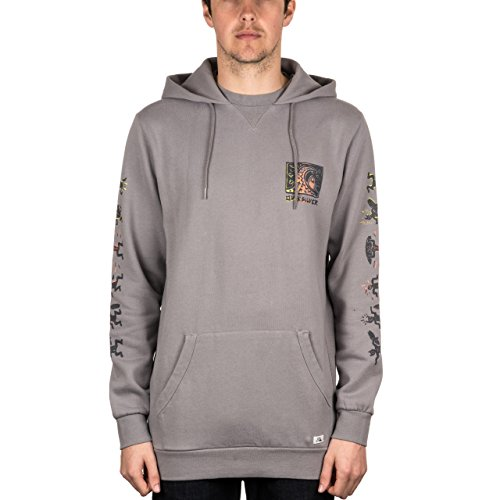 Quiksilver War Paint Pullover Hood Steeple Grey Medium