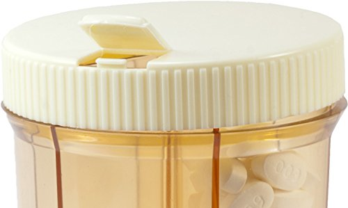 GMS-Vitanizer-6-Compartment-Pill-Organizer-Vitamin-Organizer-with-Easy-Turn-Lid-and-Self-Adhesive-Labels