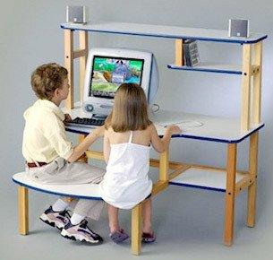 Buy Low Price Comfortable Wild Zoo Pre School Buddy Childrens Computer Desk (B002DPCRKQ)