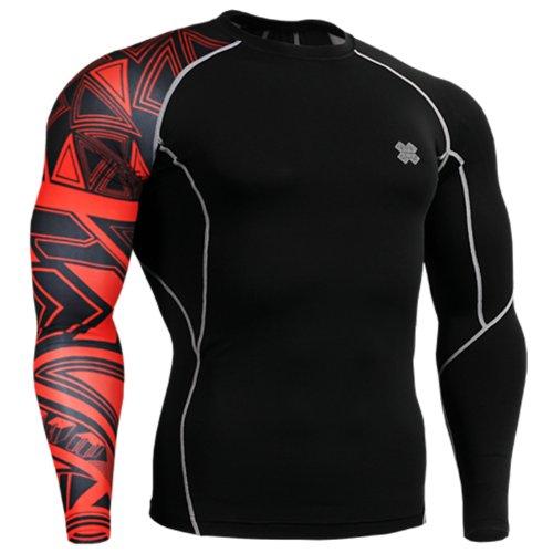 Fixgear Mens Womens Skin Compression Baselayer Running Tight T Shirt Black