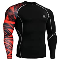 Fixgear Mens Womens Running MMA Skin Under Long Sleeve Base Layer T Shirt L