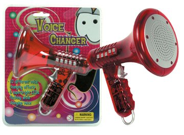 Children Kids Red Voice Changer Toy Childs Led Disguiser Toy Gift