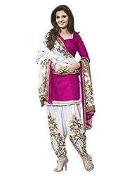 Fashion Dream Womens Cotton Dress material ( Patiyala Pink_Pink_Freesize )
