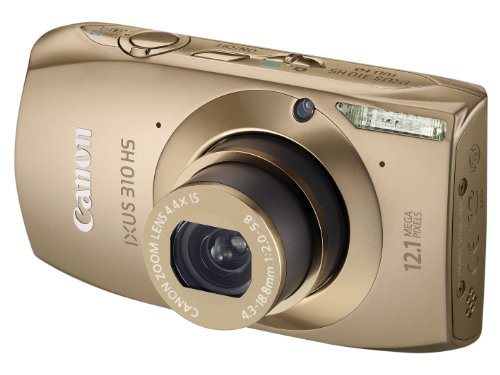 Canon IXUS 310 HS Digital Camera - Gold (12.1MP, 4.4x Optical Zoom) 3.2 inch Touchscreen LCD