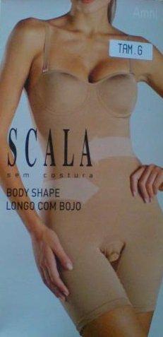 Scala Sem Costura Shape Body Shaper, Chocolate, Womens Medium (Body Shop Clothing compare prices)
