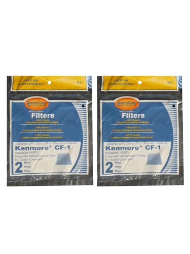 (4) Kenmore Sears Progressive Foam Filter CF1, Progressive & Whispertone, Panasonic Vacuum Cleaners, 86883, 86880, 20-86883, 2086883, 8175084 (Kenmore Model 116 Vacuum Parts compare prices)