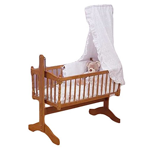 Perfect Broderie Anglaise Baby Crib Piece Bedding Set White