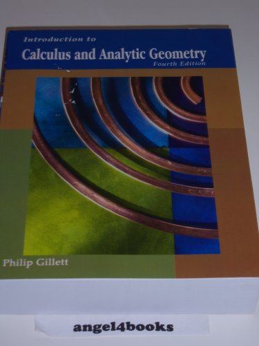 Introduction to Calculus and Analytic Geometry