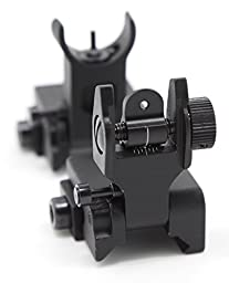Zengi AR15 Front and Rear Flip up Iron Sights, Back-up Iron Sights B.I.U.S