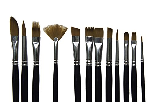 Artacts art paint brush set for watercolor acrylics for Best paint brush brands