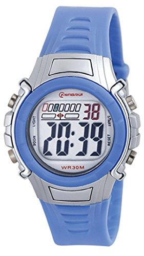 8Years- 1 Stueck Hellblau Kinder Laessig Digitaluhr Armbanduhr Sportuhr Stoppuhr Wasserdicht