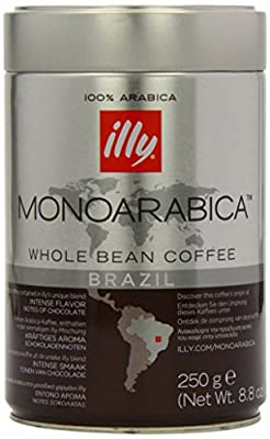 Illy Monoarabica Brazilian Coffee Beans 250 g (Pack of 2)