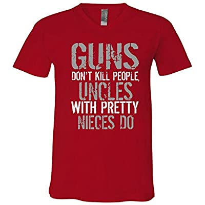 Uncles With Pretty Nieces Kill People V-Neck T-Shirt