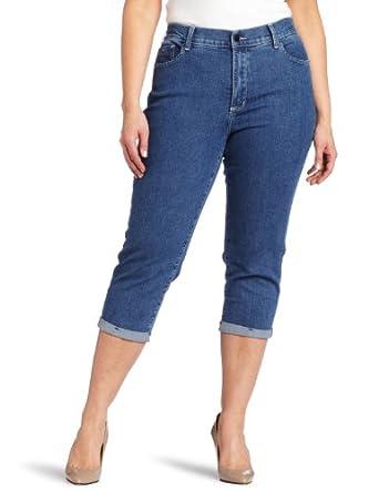 NYDJ Women's Plus-Size Fiona Roll Cuff Crop Jean, Maryland , 22W