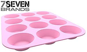 12 Slot Silicone Muffin Pan. HIGH END KITCHEN WARE. Pink. GET IN NOW! Super Value.