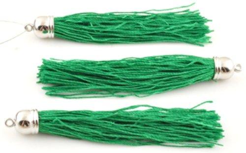 Engel Malone 3 x 90 mm grün, Textil, Charm-Anhänger und Quaste, Metall-Optik, für alle Barrel. GR8 das Basteln, Nähen & Schmuckherstellung Projekte.