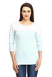 Cottinfab Women Cotton Blue Tops (XX-Large)