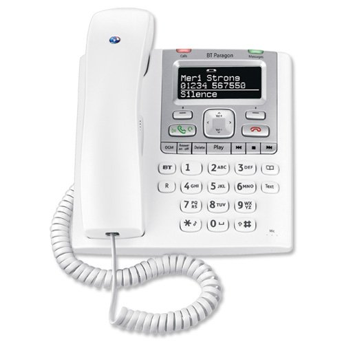 BT Paragon 550 Telephone Corded Answer Machine 100 Memories SMS Caller Inverse Display Ref 32115 images