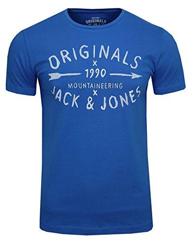 JACK & JONES -  T-shirt - Maniche corte  - Uomo Blu (Imperial Blue) X-Large