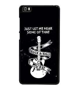 Guitar Rock and Roll 2D Hard Polycarbonate Designer Back Case Cover for Xiaomi Mi 5 :: Redmi Mi5