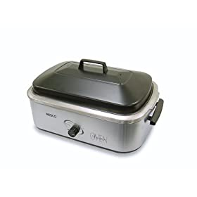 Nesco American Harvest 4808-25-20 18-Quart Roaster Oven with Stainless Steel Cookwell, Stainless Steel