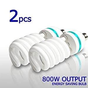 2 x Photo Studio Photography 105 Watt 6500K Day Light Fluorescent Full Spectrum Bulb, LimoStudio,LMS121