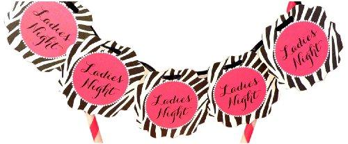 "Bella Cupcake Couture Zebra ""Ladies Night"" Itty Bitty Banner front-813039"