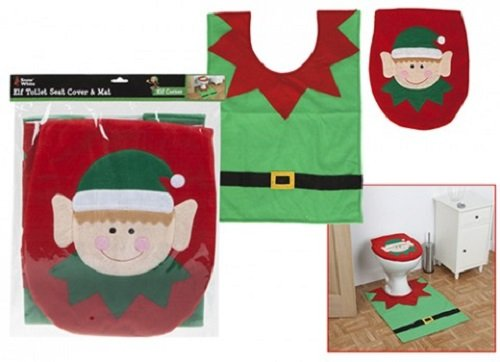 Christmas-Elf-Toilet-Seat-Cover-and-Floor-Mat-Novelty-Gift-Christmas-Decoration