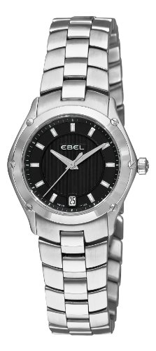 Ebel Women's 9953Q21/153450 Classic Sport Black Dial Watch