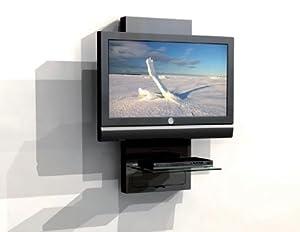 Mobile a parete porta lcd plasma tv con ripiano per dvd elettronica - Mobili porta tv meliconi ...