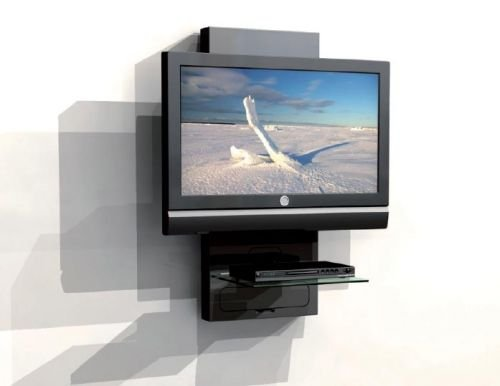 Mobile a parete porta lcd plasma tv con ripiano per dvd - Mobili porta dvd ...