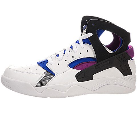 sale retailer 1e2e4 19935 Nike Men s Air Flight Huarache Prm QS White Black Lyon Blue Bld Brry Basketball  Shoe 9 Men US