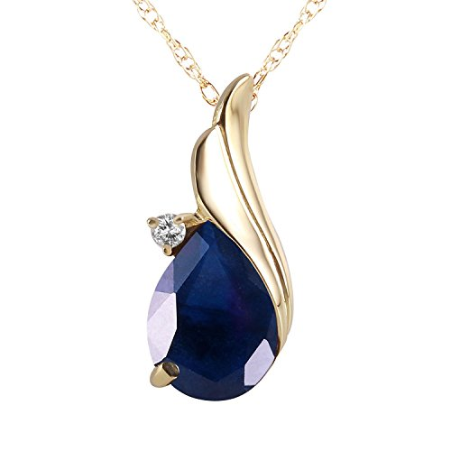Real Blue Sapphire Necklace in Rose, White and Yellow Gold Necklace